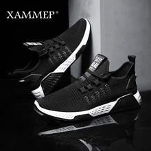 Men Casual Shoes Men Sneakers Male Mesh Loafers Breathable Flats High Quality Slip On Men Shoes Brand Spring Autumn Xammep