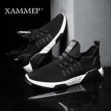 Xammep zapatos informales transpirables para hombre, mocasines de malla, sin cordones, para primavera y otoño