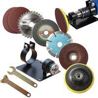 15 pçs/set assento de polimento elétrico broca de corte elétrico assento ferramenta conversão acessórios titular corte para moagem|Acessórios para ferramenta elétrica| |  -