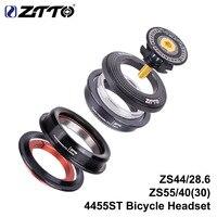 ZTTOMTB 헤드셋 ZS44 ZS55 테이퍼 스트레이트 유니버설 1.5 인치 28.6mm 도로 자전거 프론트 포크 제로 스택 컵 4455ST