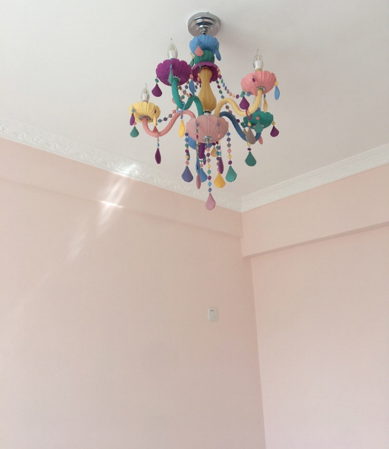 de cristal romântico lustre de cristal moderno quarto lustre luz