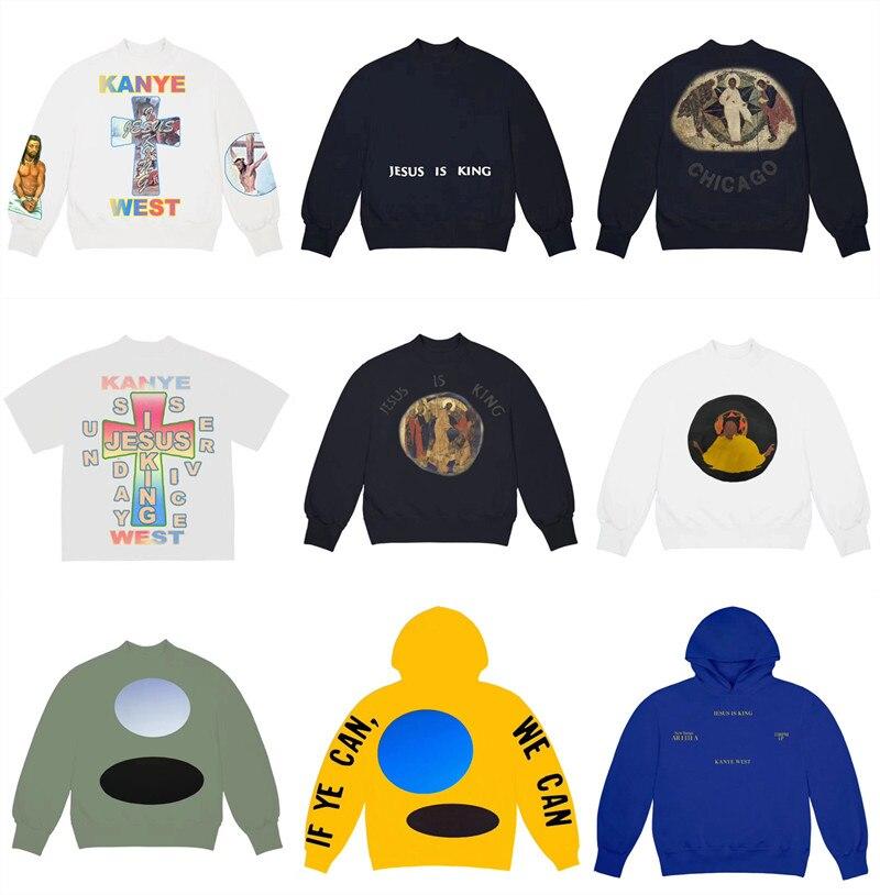 3D Printing Kanye West Jesus Is King Sunday Service Sweatshirts Men Women Best-Quality Jesus Is King Hoodie Hooded Pullover