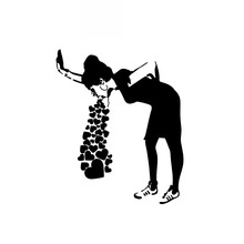 Full of Love Work Hard Art Design Zero Defect Fashion Stickers Pvc High Quality Personality Stickers Black/white, 10cm*13cm