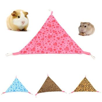 Pets Hammock Cotton Mouse Ferrets Guinea Cat Bed Pet Bird Hamster Reptile Heart Triangle Shape Cage Hammock Hanging Bed Nests image