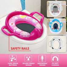 Child Multifunctional Safe Trainer Potty Seat Baby Soft Padded Potty Training Toilet Seat With Handles Toddler Kids