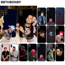 Chris Brown Rap Voor Iphone Xs Max Fundas Custom Foto Fundas Telefoon Case Voor Iphone 11 Pro Xs Max 8 7 6 6S Plus X 5 5S Se Xr Case(China)