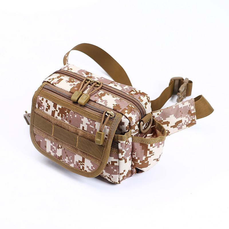 Spring Hot Sales New Style Men Multi-functional Outdoor Sports Camouflage Wallet Fashion Riding Single-shoulder Crossbody Bag