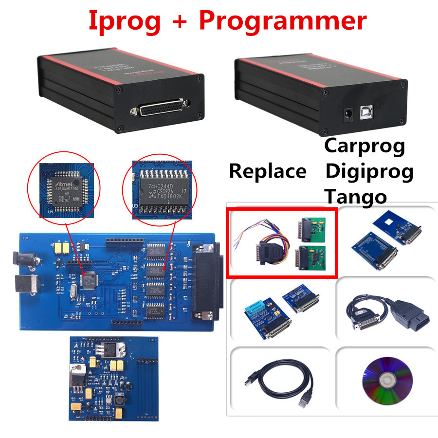 IPROG V80 Iprog+ Programmer Support IMMO+Mileage Correction+Airbag Reset Iprog Pro Till 2019 Replace Carprog/Digiprog/Tango
