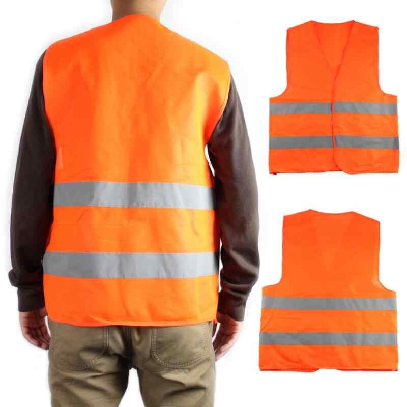Groothandel Plus Size XXL Reflecterende Vest Werken Kleding Biedt Hoge Zichtbaarheid Dag Nacht Voor Hardlopen Fietsen Waarschuwing vest