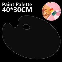 1Pc Acrílico Mistura Paleta de Pintura do Artista Faz A Limpeza para Guache Aquarela Pintura 40*30 centímetros de Mistura paleta