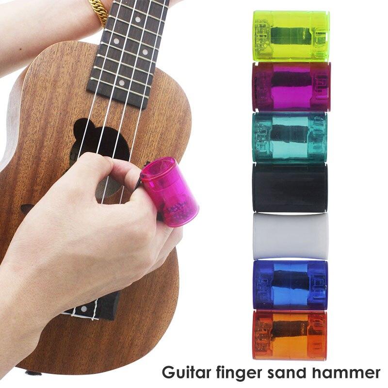 Finger Hammer Sand Shaker Guitars Acrylic Rhythm Glitter Guitar Sand Bell Maracas Instruments Durable Music