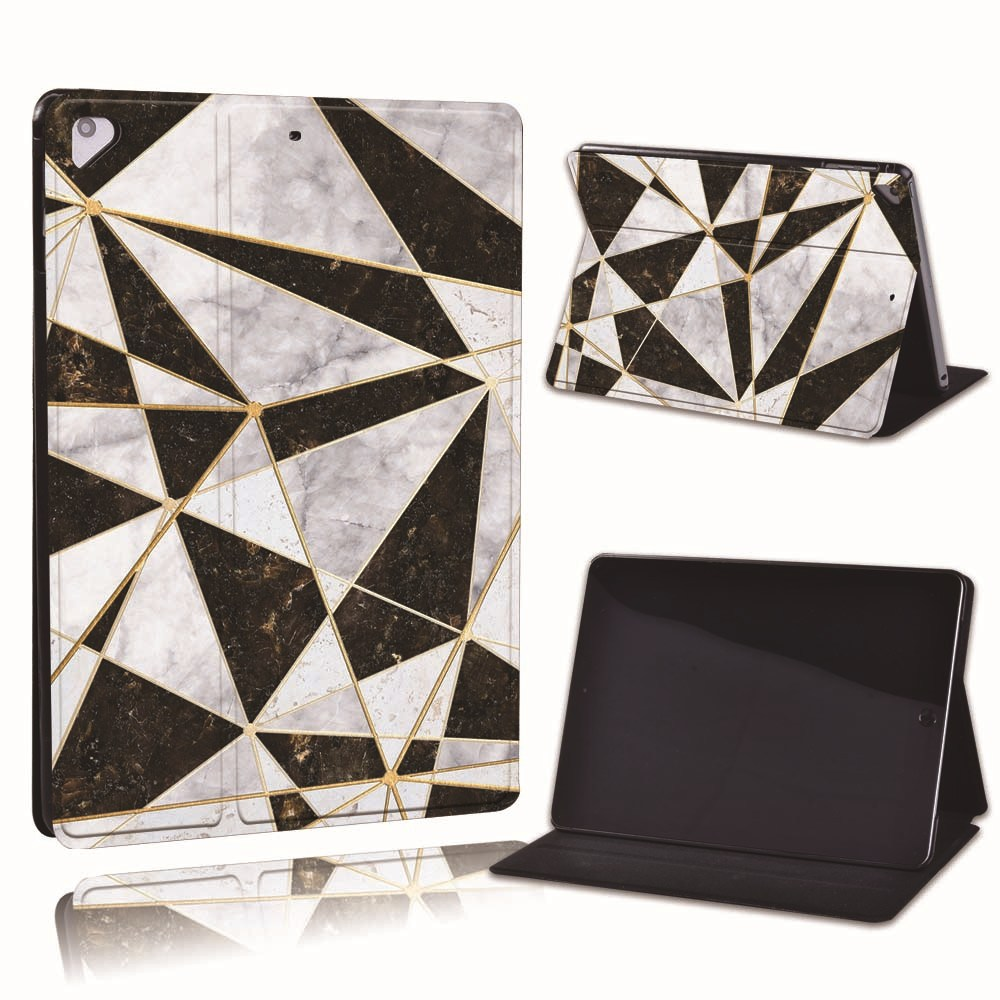 16.grey black marble Ivory For Apple iPad 8 10 2 2020 8th 8 Generation A2428 A2429 PU Leather Tablet Stand