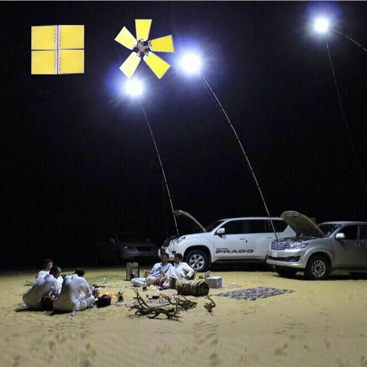 Популярные 300 шт. светодиоды 5 панелей COB 12 вольт светодиодные удочки для кемпинга для наружного кемпинга
