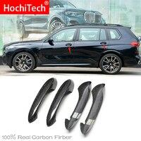 Высокое качество для BMW X7 G07 M50i 2018 2019 2020 автомобильные аксессуары углеродное волокно Автомобильная дверная ручка наружная отделка крышки