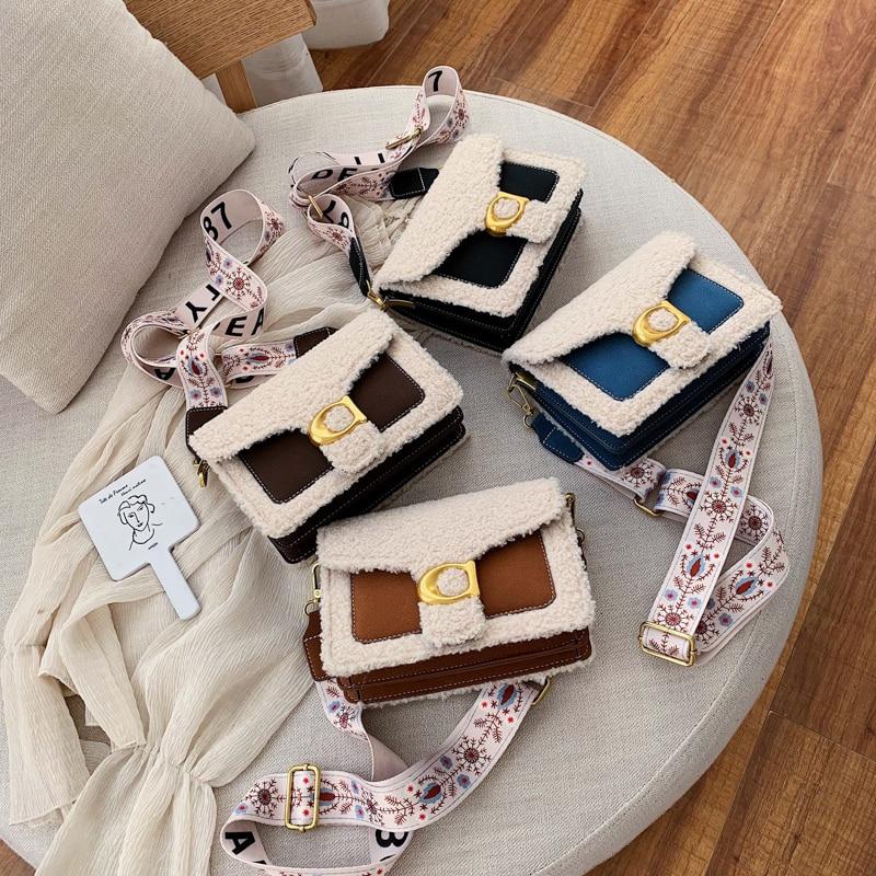 luxury handbags women bags designer Plush Woolen shoulder bag Messenger Small Handbag Woman Crossbody Bags for Women 2019