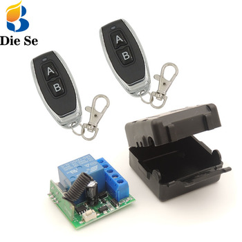 Diese rf relay 12v Remote Control 433Mhz Universal Wireless Relay Receiver rf Transmitter 433 Mhz Remote Controller DIY Smart