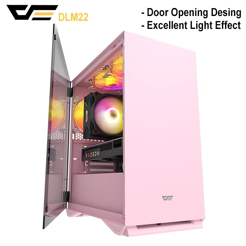 DarkFlash DLM22 Gaming Computer <font><b>Case</b></font> <font><b>PC</b></font> Gamer <font><b>Mini</b></font> Chasis <font><b>PC</b></font> Glass Gaming <font><b>Case</b></font> M-<font><b>ATX</b></font> ITX Computer <font><b>Case</b></font> image