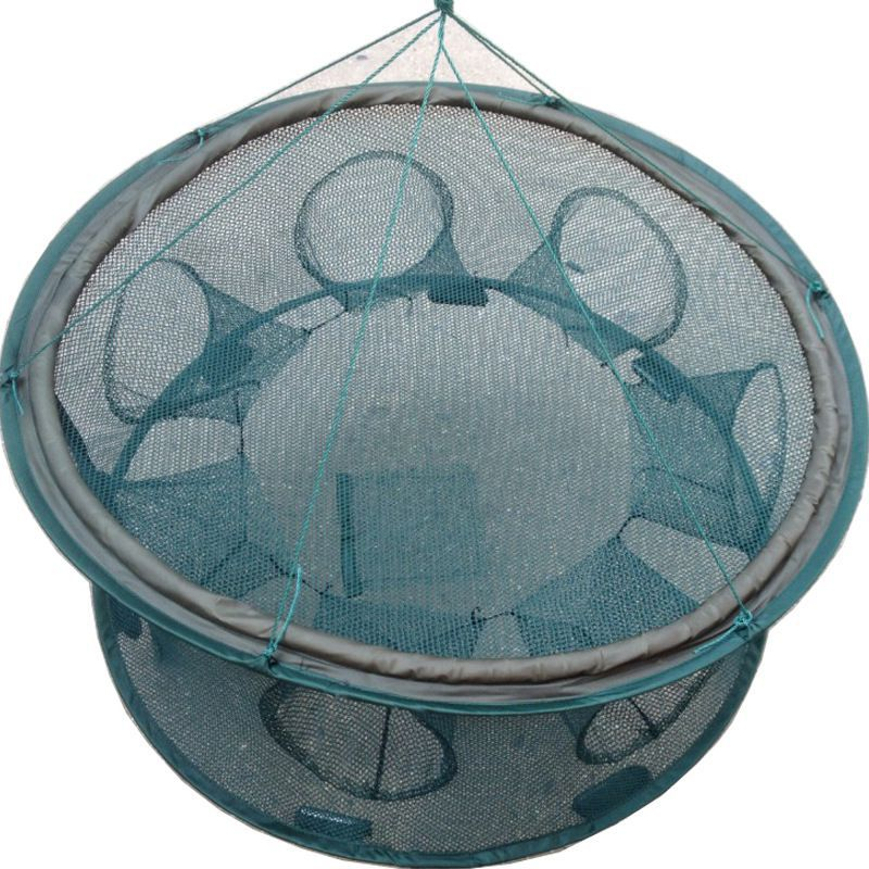 Durable Strengthen Automatic Fishing Net Foldable Catch Trap Cage Round Shape Net For Crab Crayfish Lobster Fishing Shrimp