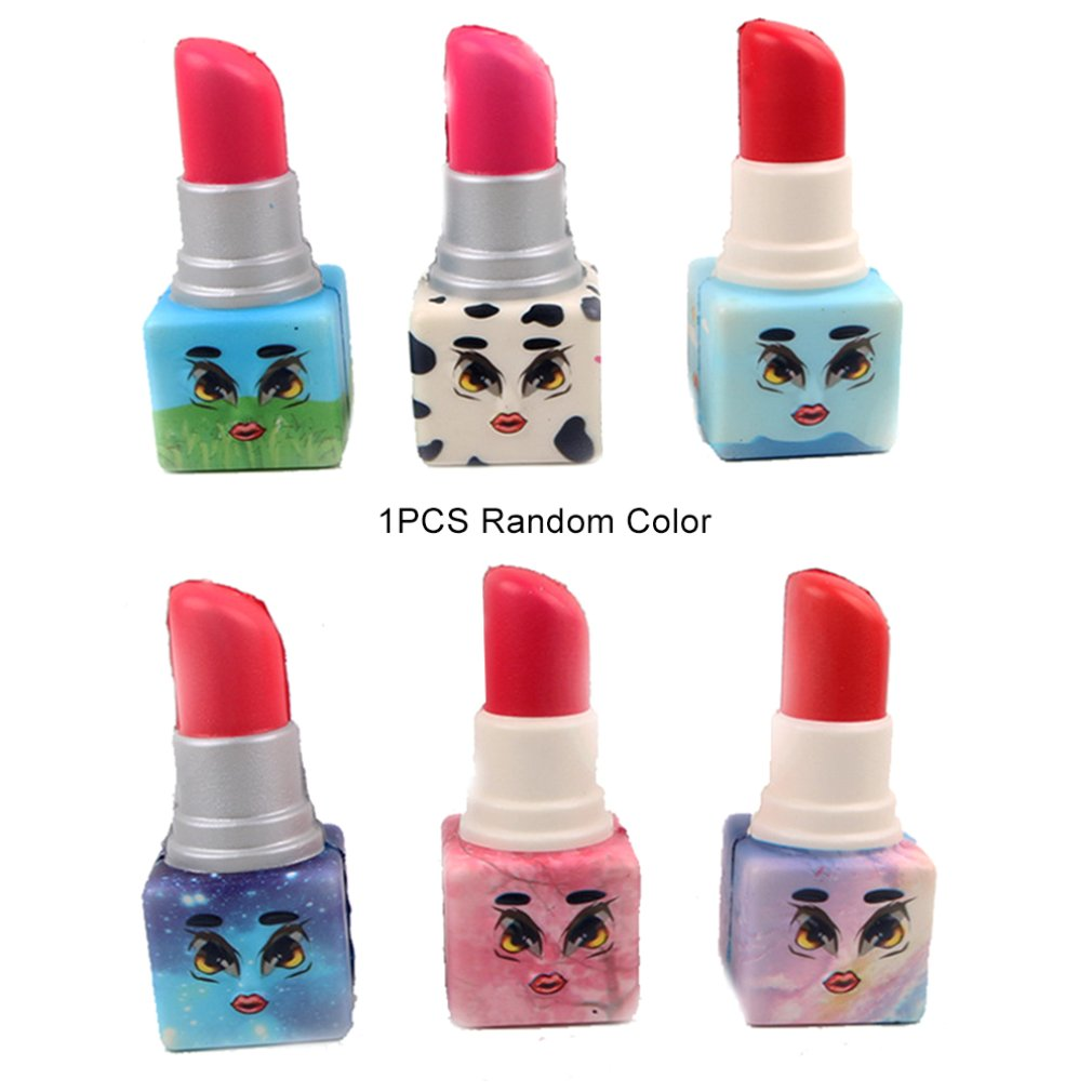 Simulated Cartoon Print Lipstick Toy Slow Rebound Decompression Toy Foam Decoration Foam Relaxed Toy Cake Sample Model