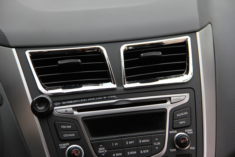 lowest price Car Air conditioning outlet  door handle cover gear panel  Glove Box Handle Cover ABS chrome trim For Hyundai Solaris Verna i25