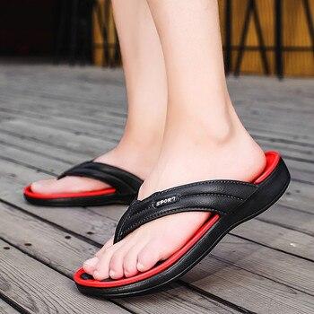 Chanclas antideslizantes de Punta abierta para hombre, zapatillas de playa de verano, zapatillas planas de casa a la moda, 2020, nuevas chicas, chancletas, moda,