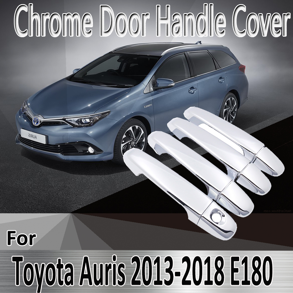 Autocollants de style pour Toyota Auris E180 Hatchback (AU) Scion iM 2013 ~ 2018, couverture de poignée de porte chromée, accessoires de voiture