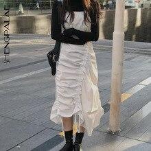 Ladies Dresses Fashion Women Summer Draped Drawstring Sexy Sleeveless SHENGPALAE Regular