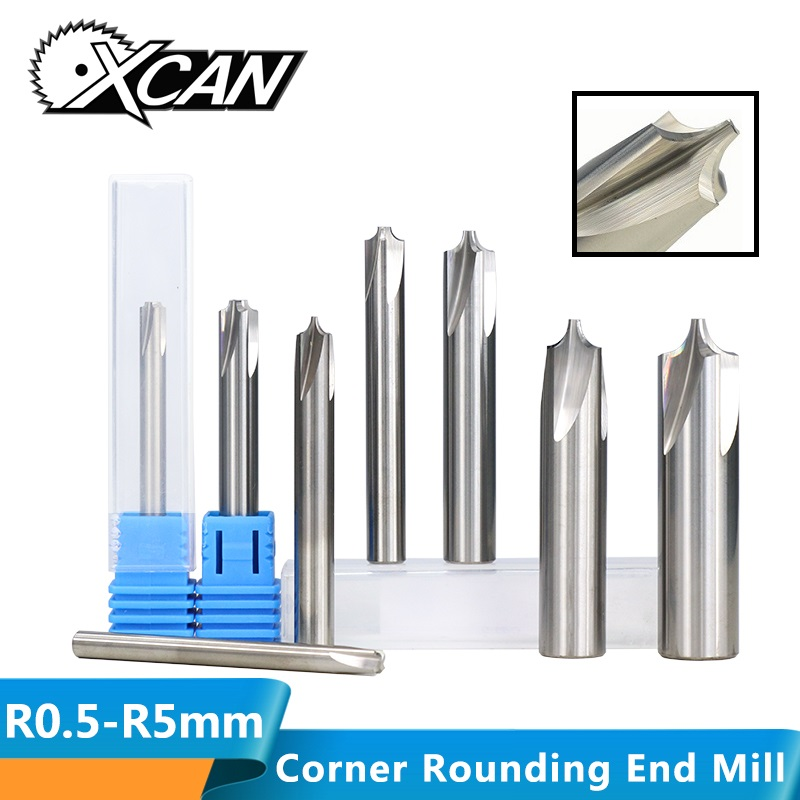 XCAN 1pc R0.5-R5.0 Corner Rounding End Mill Tungsten Carbide Router Bit For CNC Machine End Milling Cutter