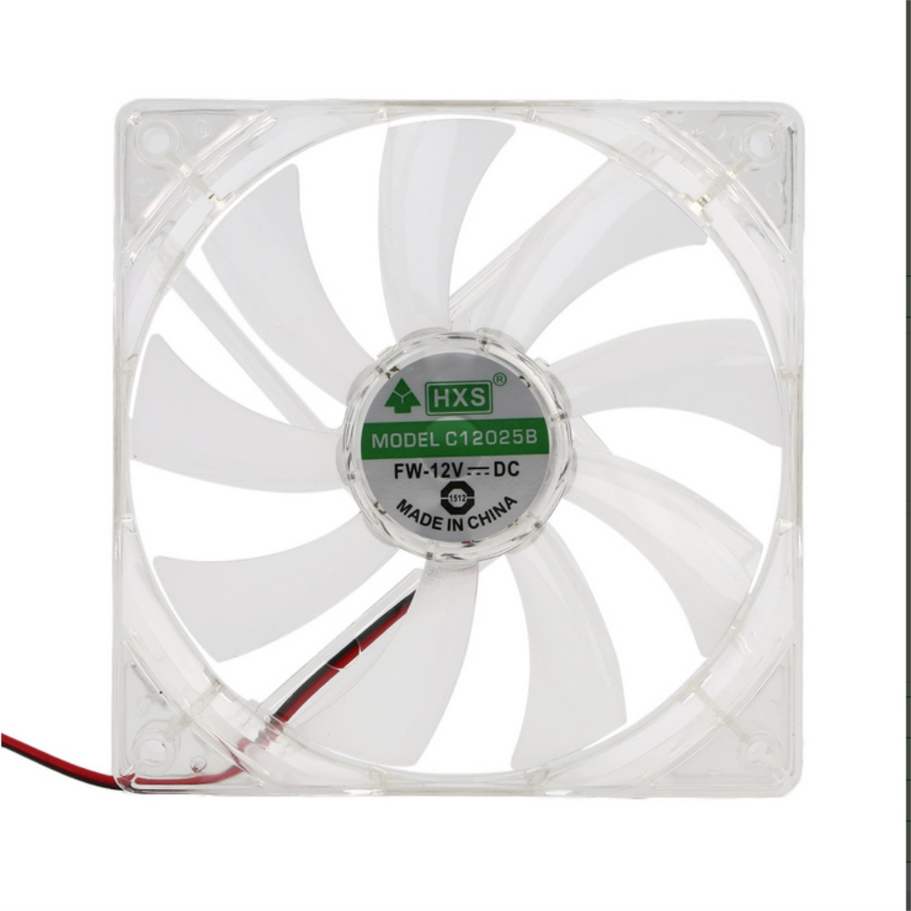 PC Computer Fan Quad 4 LED Light 120mm PC Computer Case Cooling Fan Mod Quiet Molex Connector Easy Installed Fan 12V
