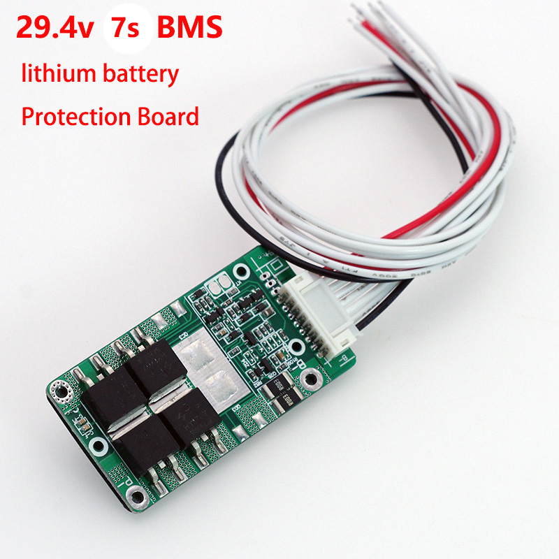 1PCS 29.4V <font><b>7S</b></font> 15A 20A Li-ion <font><b>18650</b></font> Battery Pack <font><b>BMS</b></font> PCB board PCM w/ Balance Integrated Circuits Board for e-bike ebicycle image