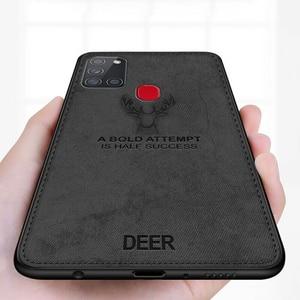 Для Samsung A21s чехол с оленем тканевый чехол для телефона для Samsung Galaxy A21s A21c A 21 s 21 s A217f мягкая силиконовая рамка чехол для телефона