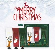 3pcs/set Christmas Hand Cream Set Moisturizing Nourishing Skin Lighten Fine Line