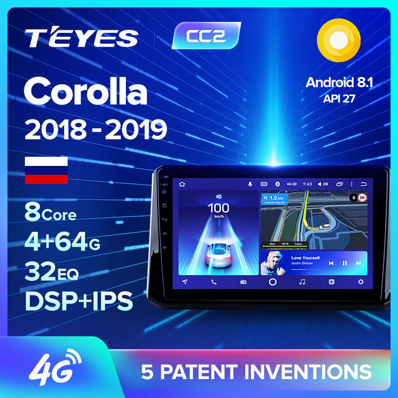 TEYES CC2 For Toyota Corolla 2018 2019 Car Radio Multimedia Video Player Navigation GPS Android 8.1 No 2din 2 din dvd(China)