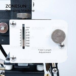 Image 5 - ZONESUN máquina de estampación en caliente de 220V/110V, cortadora de tarjetas para cuero, tarjeta de PVC + 2 gratis FO