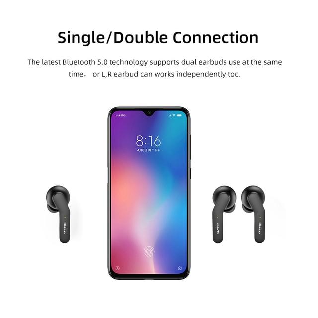 AWEI TWS Bluetooth V5.0 słuchawki bezprzewodowe prawdziwe słuchawki bezprzewodowe ładowanie redukcja szumów HiFi 6D Bass z mikrofonem sterowanie dotykowe gamingowy zestaw słuchawkowy