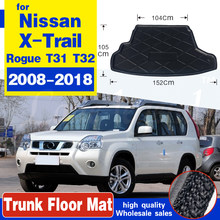 Car Boot Cargo Liner For Nissan X-Trail Rogue XTrail T30 T31 T32 2001 - 2018 Rear Trunk Floor Mat Tray Carpet Mud Protector(China)