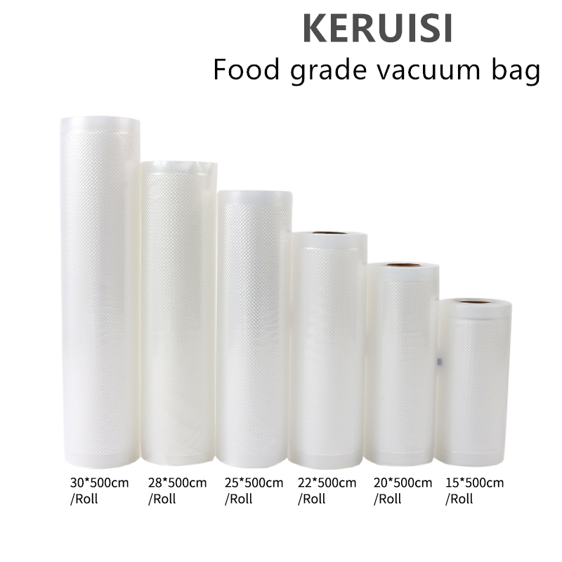 1Roll Kitchen Food Vacuum Bag Storage Bags Vacuum Bags For Food For Vacuum Sealer Vacuum Packaging Rolls 12/15/20/25/30cm*500cm