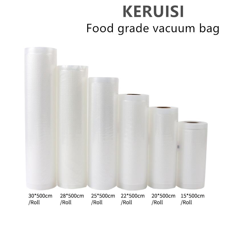1Roll Kitchen Food Vacuum Bag Storage Bags Vacuum Bags For Food For Vacuum Sealer Vacuum Packaging Rolls 12/15/20/25/30cm*500cm