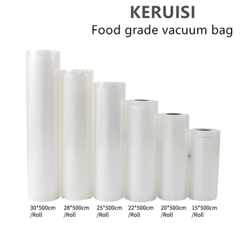 цена на 1Roll Kitchen Food Vacuum Bag Storage Bags vacuum bags for food For Vacuum Sealer Vacuum Packaging Rolls 12/15/20/25/30cm*500cm