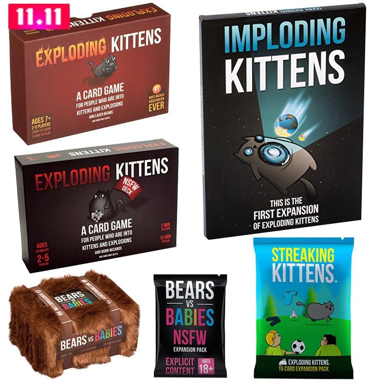 Взрывающиеся котята карточная игра полосы расширения котята комплект игры для развлечения настольная игра имплозинг взрывающиеся полосы ...
