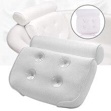 1PC SPA Bath Pillow Soft Headrest Bathtub Pillow with Suction Cup Premium Neck Cushion Bathroom Accessories