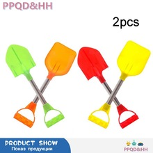 2pcs/set Children Summer Beach Toy Kids Outdoor Digging Sand Shovel Play Sand Tool Playing Snow Shovels Play House Toys