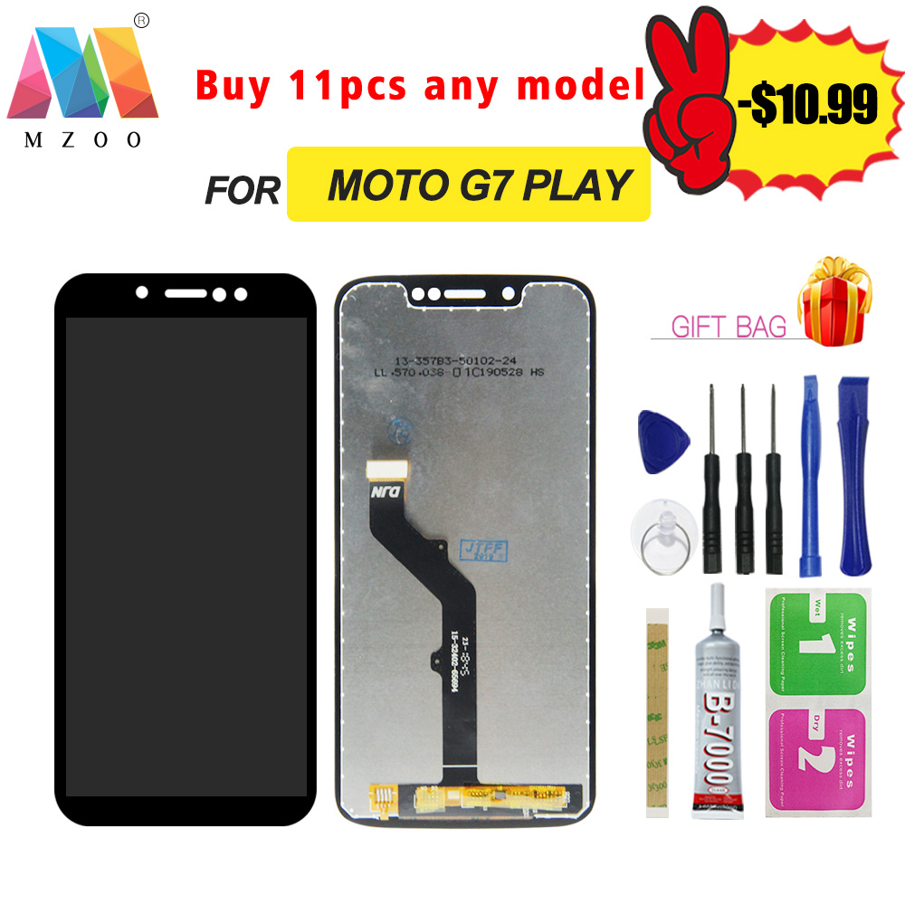 High Quality LCD For Motorola Moto G7 Play <font><b>XT1952</b></font> LCD Display Sreen Touch Digitizer Replacement Assembly Panel <font><b>Parts</b></font> With Fram image