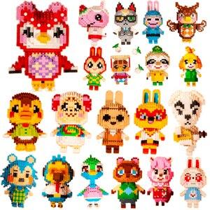 28 styles Animal Crossing Blocks legoeing Raymond 3D Model DIY Mini Diamond Blocks Bricks Building Toy for Children Gift
