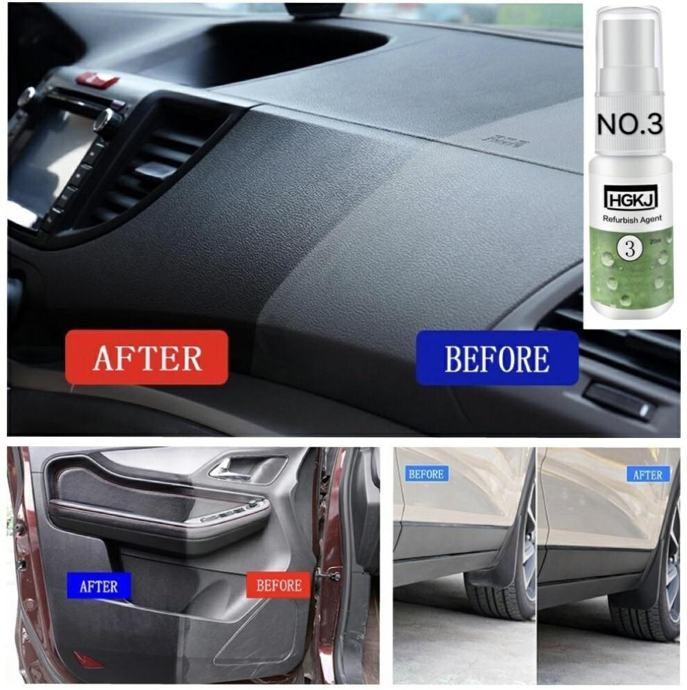 HGKJ-3-20ml Car Scratch Repair Liquid Polishing Spray Retreading Agent Car Interior Leather Seats Plastic Maintenance Clean Care