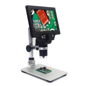 Image 5 - KKMOON G1200 הדיגיטלי אלקטרוני LCD רציף זום וידאו מיקרוסקופ נייד 12MP הלחמה מיקרוסקופ עם 8 נוריות