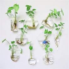 Creative wall hanging glass vase fish tank living room decoration plant container