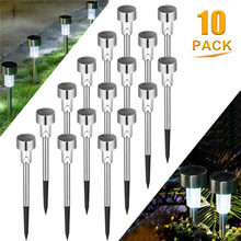 2 3 5 7 10 Pack LED Waterproof Ground Lights Solar Garden Lights Outdoor Disk Lights Landscape Lighting for Lawn Yard Path cheap AuYi CN(Origin) D2026 IP44 1 2V STAINLESS STEEL Wedge LED Bulbs Contemporary Industrial Ni-MH Battery can be replaced 0 06 (W)