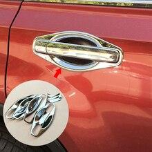 Fit For Nissan X TRAIL XTRAIL T31 Bezel 2008 2009 2010 2011 2012 2013 Chrome Trim Cup Insert Door Handle Bowl Cover Garnish