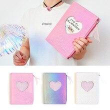 Korean DIY Agenda Planner Organizer A5 Diary Notebook and Journal Kawaii Weekly Monthly Diamond Love Note Book Laser Handbook цена